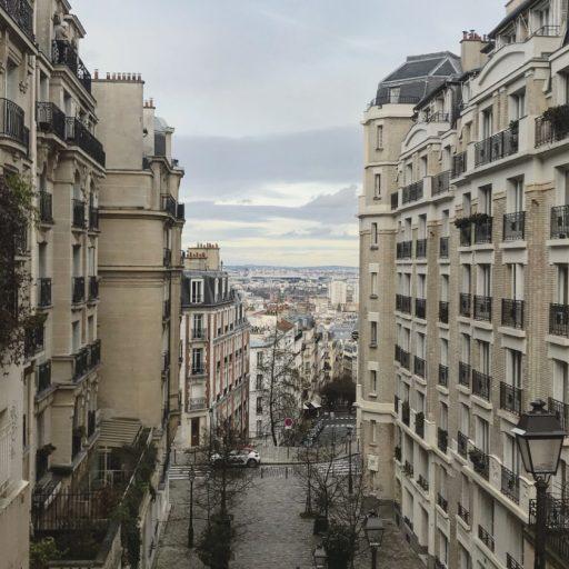 Street view of Montmartre