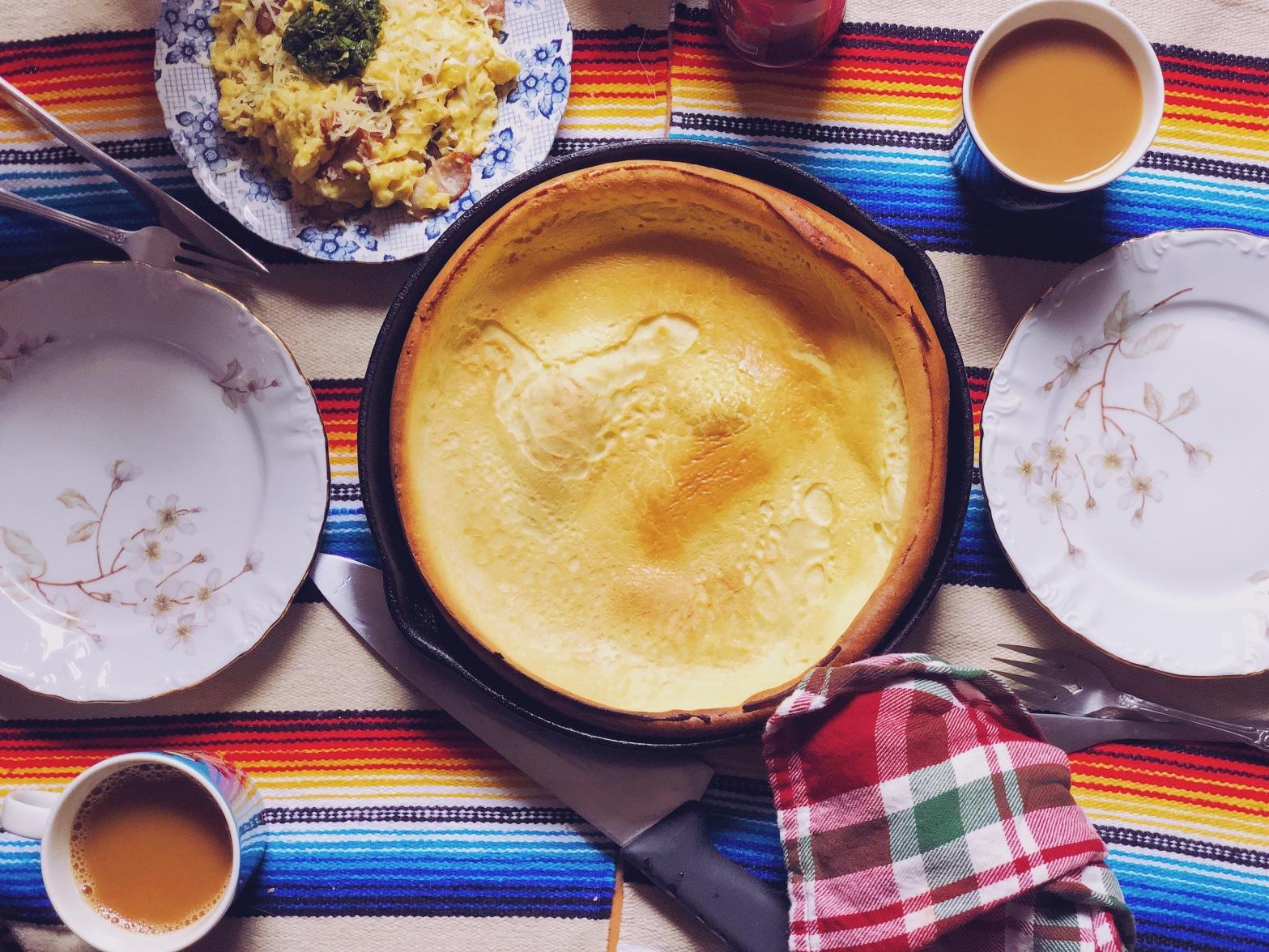 A dutch baby pancake makes a perfect sweet or savory break