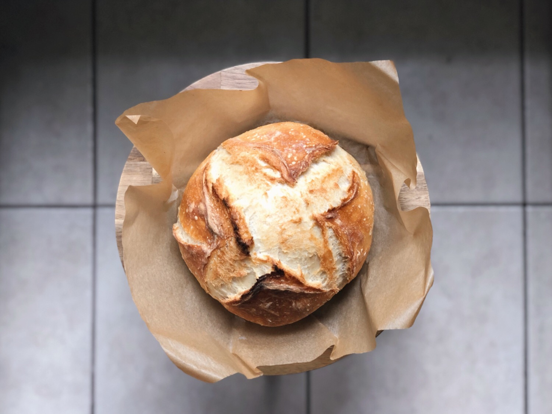 A perfect no-knead artisan bread boule