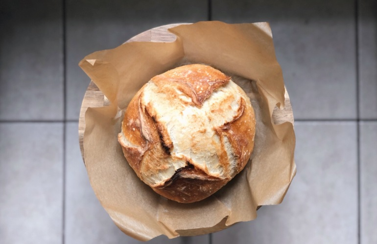 A perfect no-knead artisan bread boule