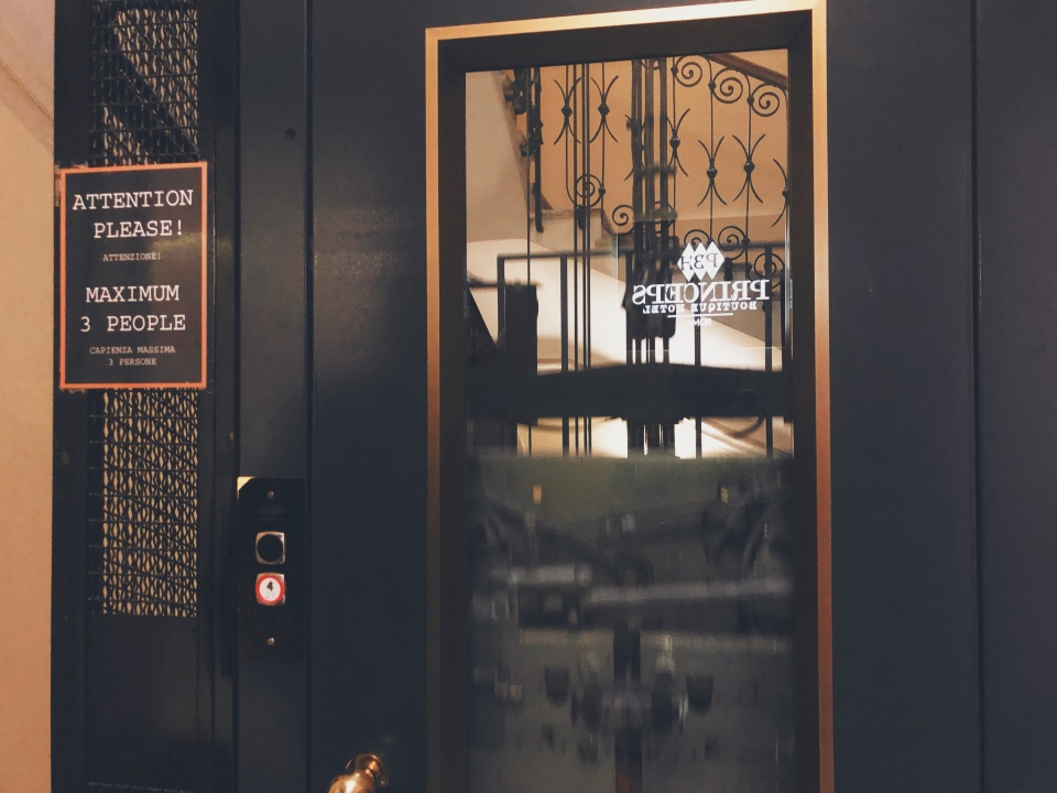 Elevator in Princeps Boutique Hotel