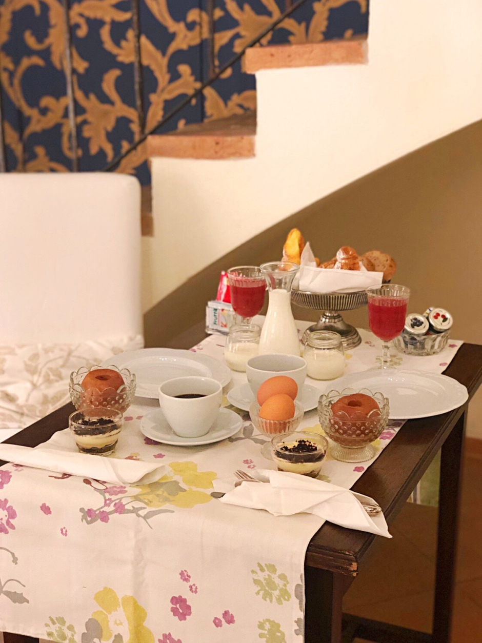 Breakfast at Al Battistero D'Oro B&B Parma Italy