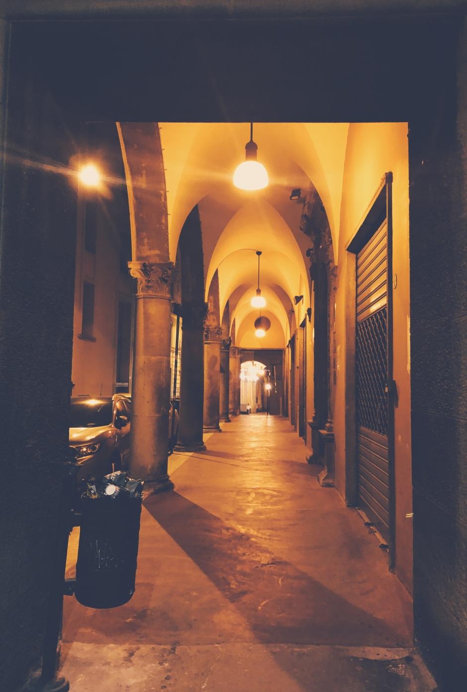 Porticoes in Bologna Italy